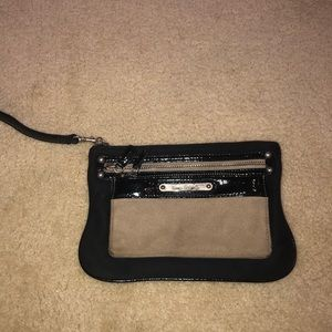 Express Suede Wristlet
